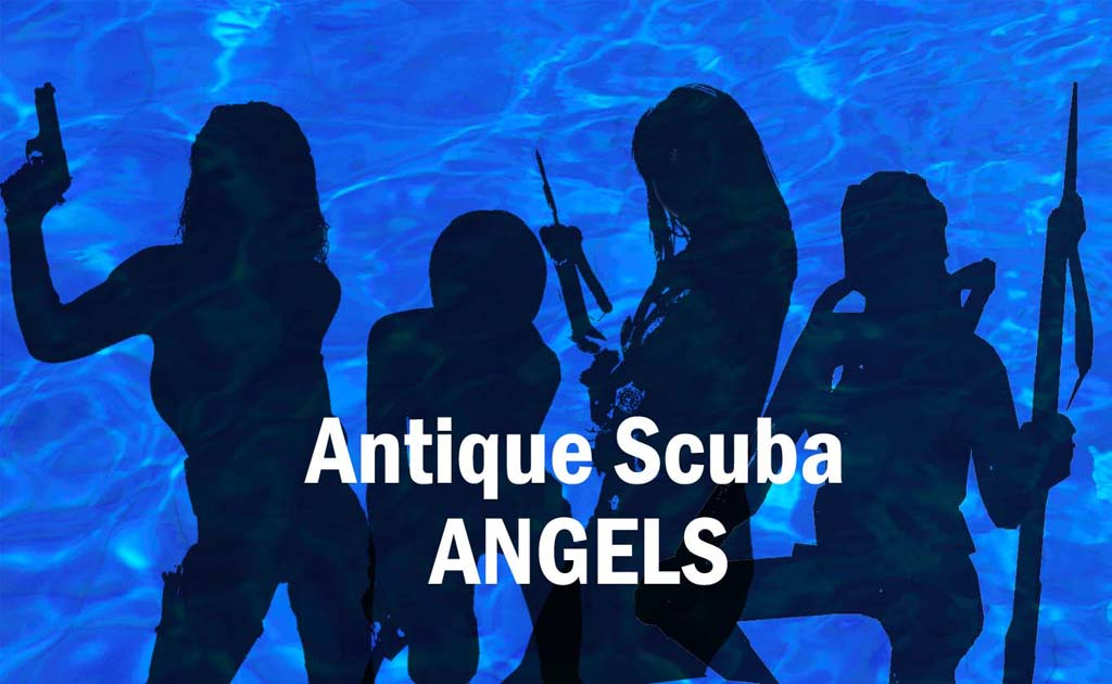Antique scuba angels